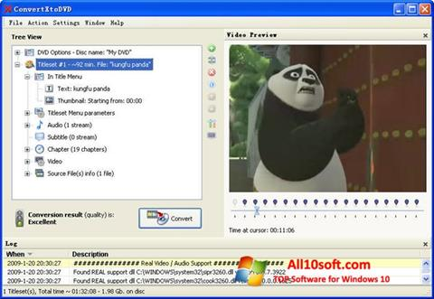 स्क्रीनशॉट ConvertXToDVD Windows 10