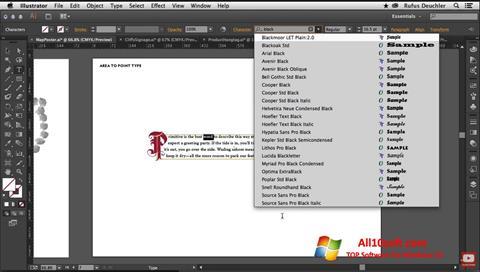 स्क्रीनशॉट Adobe Illustrator Windows 10