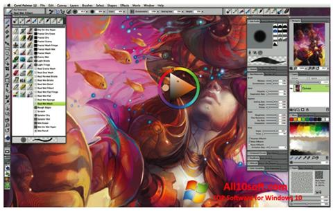 स्क्रीनशॉट Corel Painter Windows 10