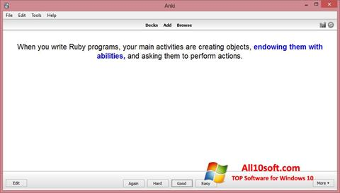 स्क्रीनशॉट Anki Windows 10