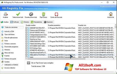 स्क्रीनशॉट Vit Registry Fix Windows 10