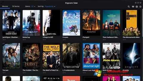 स्क्रीनशॉट Popcorn Time Windows 10