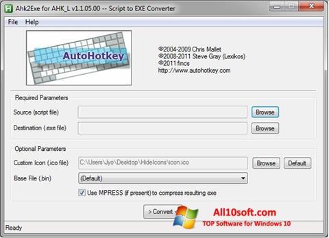 स्क्रीनशॉट AutoHotkey Windows 10