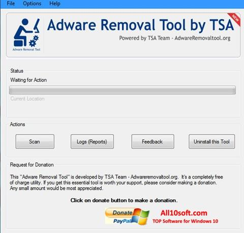स्क्रीनशॉट Adware Removal Tool Windows 10
