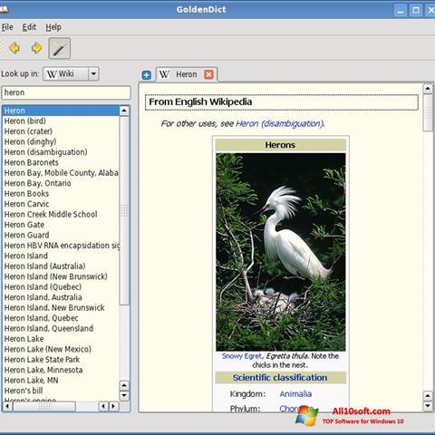 स्क्रीनशॉट GoldenDict Windows 10