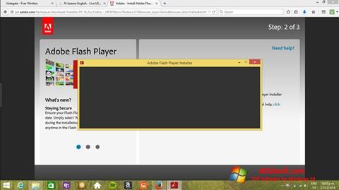 स्क्रीनशॉट Adobe Flash Player Windows 10
