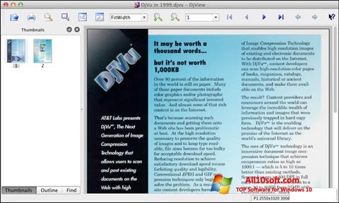 स्क्रीनशॉट DjView Windows 10
