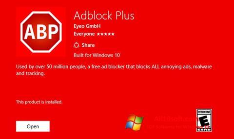 स्क्रीनशॉट Adblock Plus Windows 10