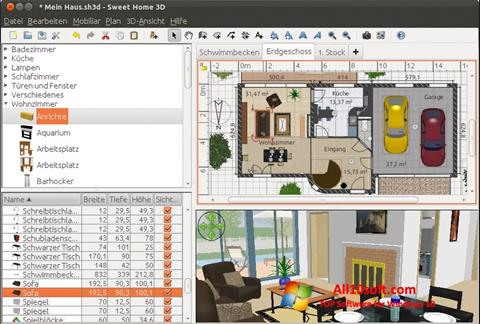 स्क्रीनशॉट Sweet Home 3D Windows 10