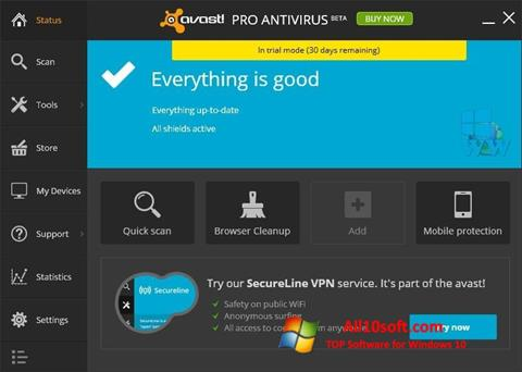 स्क्रीनशॉट Avast! Pro Antivirus Windows 10