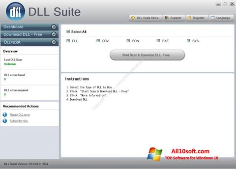 स्क्रीनशॉट DLL Suite Windows 10