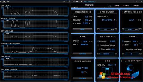 स्क्रीनशॉट GIGABYTE OC Guru Windows 10